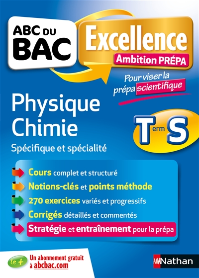 ABC EXCELLENCE   AMBITION PREPA   PHYSIQUE CHIMIE TERMINALE S   PREPA SCIENTIFIQUE